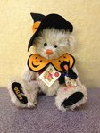 Hermann Teddy Original Halloweenbär mit Rabe 148289